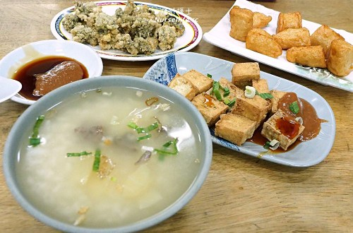 泰山美食|香菇蚵肉粥.明志路的平價小吃