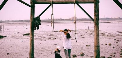 彰化、福興 福寶濕地.漂流木公園.看夕陽挖蛤的IG打卡點