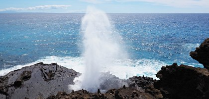 夏威夷|歐胡島潮吹洞.Halona Blowhole Lookout