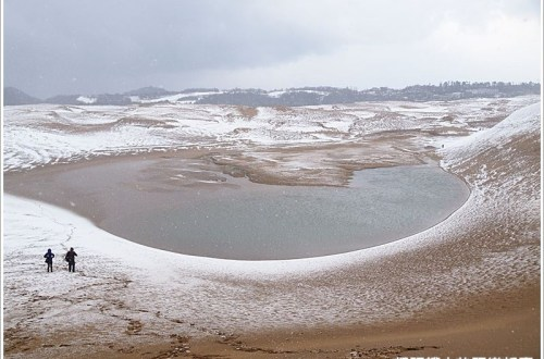 【日本】雪の鳥取砂丘 隱藏在砂洲的愛心 只有戀人才看的到的求婚密碼