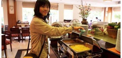 【暹粒】河景飯店享用早餐,前往吳哥~