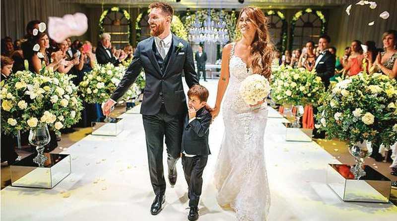 Traumhochzeit Lionel Messi heiratet seine Jugendliebe