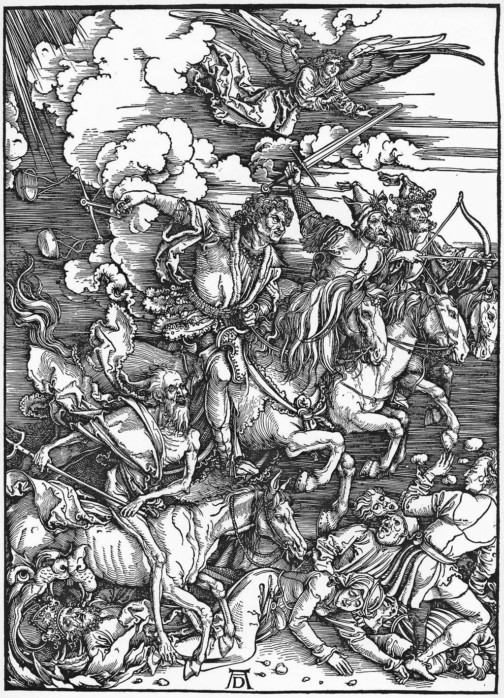 Das Ende naht in Gestalt der vier apokalyptischen Reiter von Dürer (1498).(Bild: Albrecht Dürer)