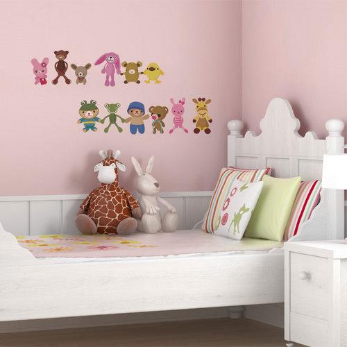 DIY創意壁貼哪裡買? 動物娃娃壁貼給小朋友佈置房間超可愛@Happy生活分享好康購物 PChome 個人新聞臺