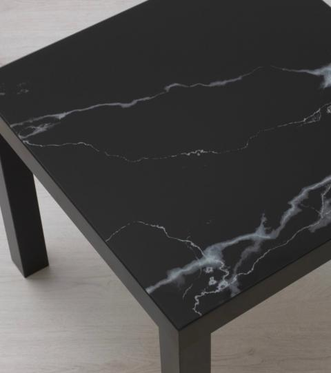 ikea la celebre table lack sort en marbre