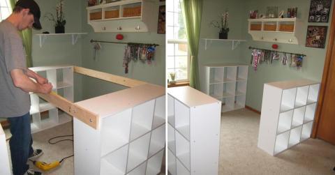 voici comment transformer 3 etageres ikea en un superbe meuble de cuisine