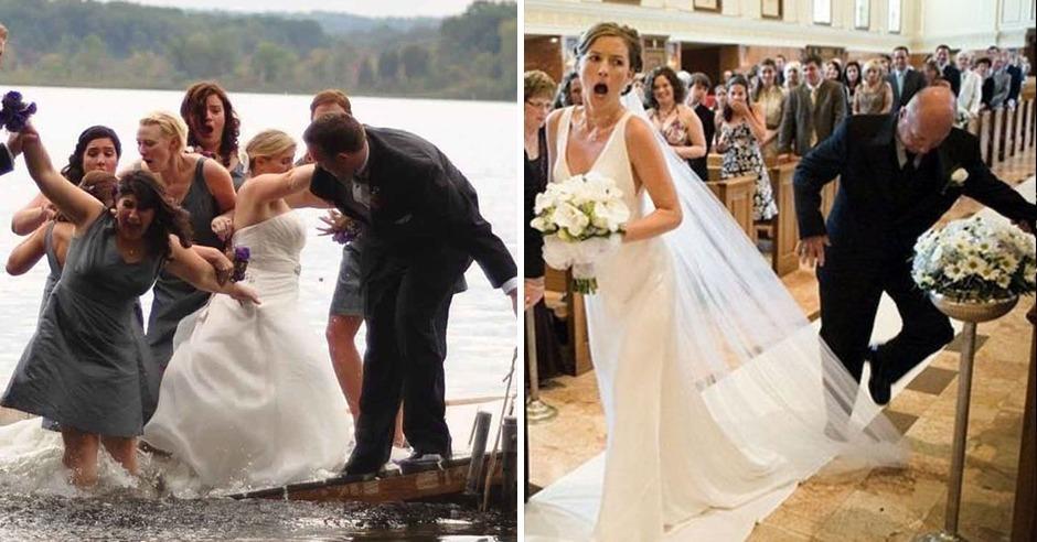 Top 20 der am schlimmsten missratenen Hochzeitsfotos