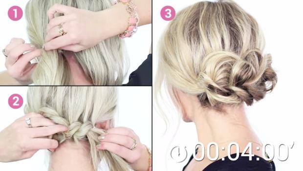 Einen Eleganten Festlichen Haarknoten Einfach Selber Machen Und