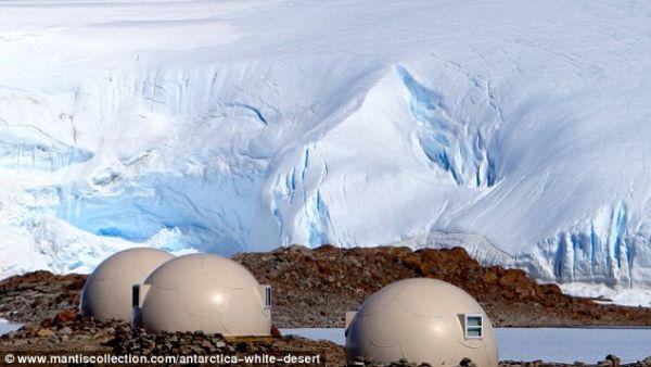 Perkemahan Wichaway di Antartika (Foto: dailymail)