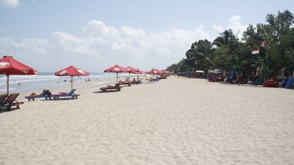 Pantai Kuta, Bali (Foto: Mutya/Okezone)