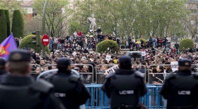 Warga Spanyol Protes Krisis Ekonomi (Foto: AFP)