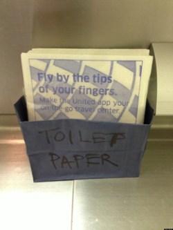Brosur yang digunakan sebagai tisu toilet (Foto: huffingtonpost)