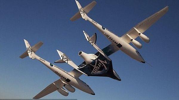 Pesawat ruang angkasa milik Virgin Galactic (Foto: dailymail)