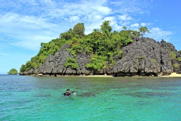 Pulau Labengki nan eksotik (Foto: Ahmad Nizar/Sindo TV)