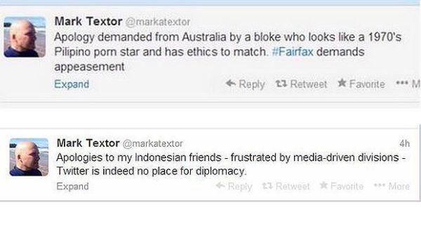 Twitter dari Mark Textor (Foto: The Age)
