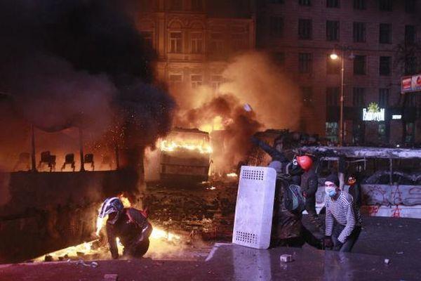 Kerusuhan di Ukraina beberapa waktu lalu. (Foto: Reuters)