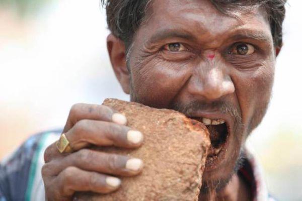 oops pria india kecanduan makan batu bata namakugusti s blog
