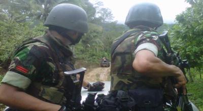 Penyisiran hutan di Gunung Biru (Dok: Sindo TV)