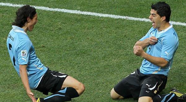 Edinson Cavani dan Luiz Suarez - Uruguay (Foto: ist)