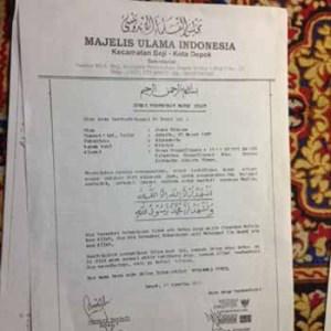 Dianggap Penistaan Agama, FPI Depok akan Laporkan Jonas Rivanno