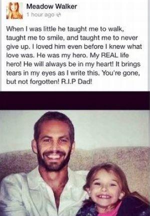 Putri Paul Walker Ternyata Tidak Saksikan Kecelakaan Ayahnya