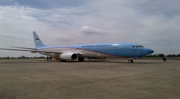 Pesawat Kepresidenan (Foto: Fahmii/Okezone)