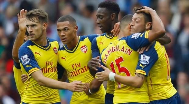 Arsenal unggul tiga gol di babak pertama (Foto: Reuters)