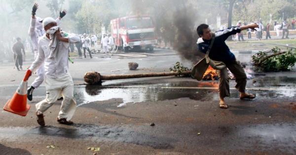 Markas Dikepung Polisi, Korlap FPI Menyerah