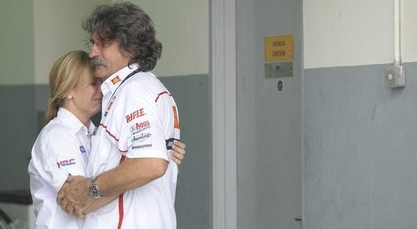 Rosella dan Paolo Simoncelli (Foto: Reuters)