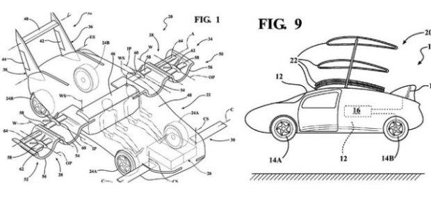 Sketsa rancangan mobil terbang Toyota (Foto: Autoguide.com)