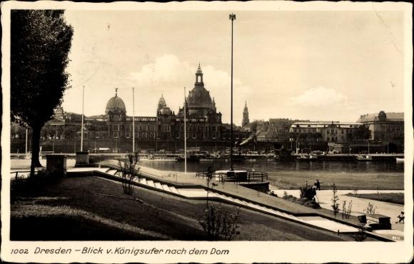 Ak Dresden Zentrum Altstadt Blick zur Altstadt vom