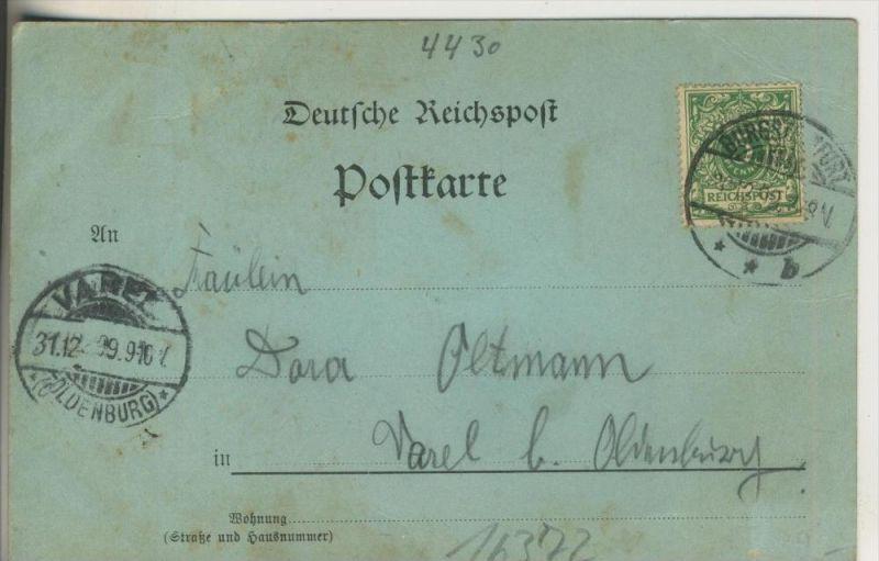 Gruss aus Burgsteinfurt v1899Geschft Fr Lefholz und