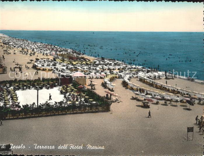 Jesolo Terrazza dell Hotel Marina Strand Kat Lido di Jesolo Nr ke19037  oldthing