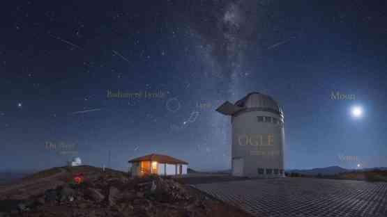 Meteoros da Líridas no Chile