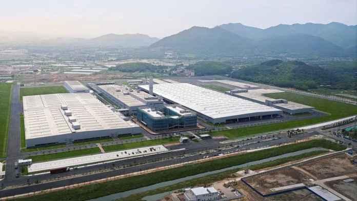 Fábrica da Xpeng, na China
