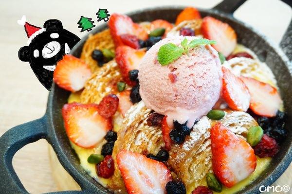"""【台北士林美食】omocafé  *♥天母SOGO""""早午餐""""義式料理""""鐵鍋甜點""""美酒配佳餚"""