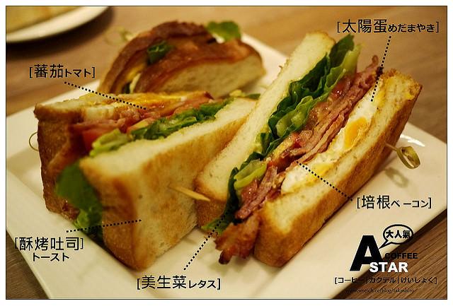 【台北慢步食記】ASTAR COFFEE HOUSE:咖啡、老屋、沒有宅貓~BLT意外大好味三明治
