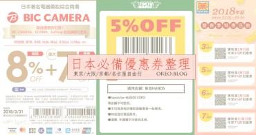 日本藥妝優惠券整理(每月更新)BIC CAMERA/松本清/唐吉軻德/大國藥局/台隆手創館