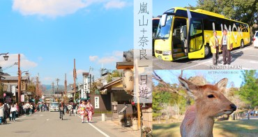 京都嵐山&奈良一日遊(大阪來回)不必擔心交通的懶人玩法~LIMON巴士一日遊