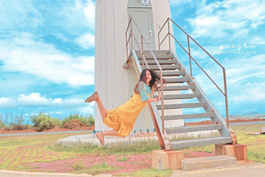 澎湖北環一日遊打卡路線~後寮天堂路、中屯風車、柱狀玄武岩、小池雙曲橋