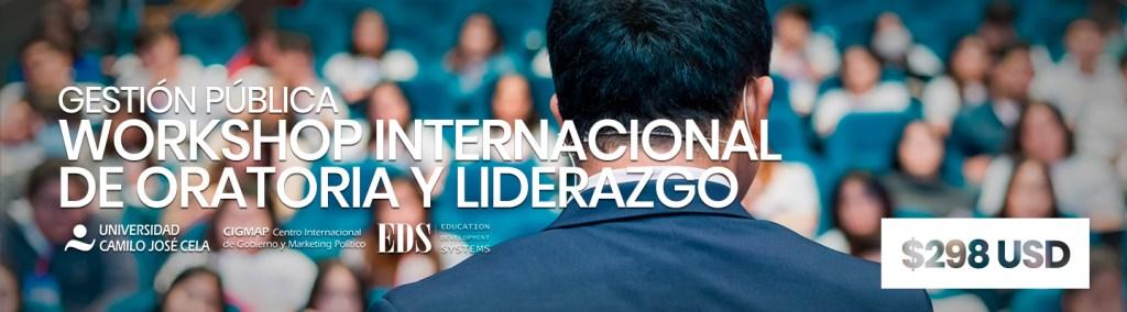 Workshop Internacional de Oratoria Liderazgo - Instituto Mejores Gobernantes