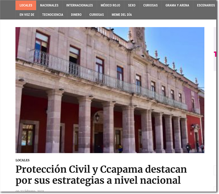Protección Civil y CCAPAMA destacan por sus estrategias a nivel nacional - CEG 153 - Centro de Evaluación del Instituto Mejores Gobernantes