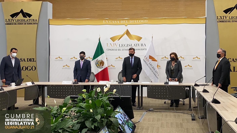 Cumbre Internacional Legislativa Guanajuato 21. Acceso Gratuito. Organiza Instituto Mejores Gobernantes, Congreso del Estado de Guanajuato, Organización Mundial Ciudades Sostenibles, Red Gobierno