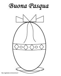 Disegni di Pasqua bambini: uovo di Pasqua da colorare ...