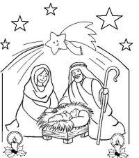 Presepe di Natale da colorare - Oggi mamma news