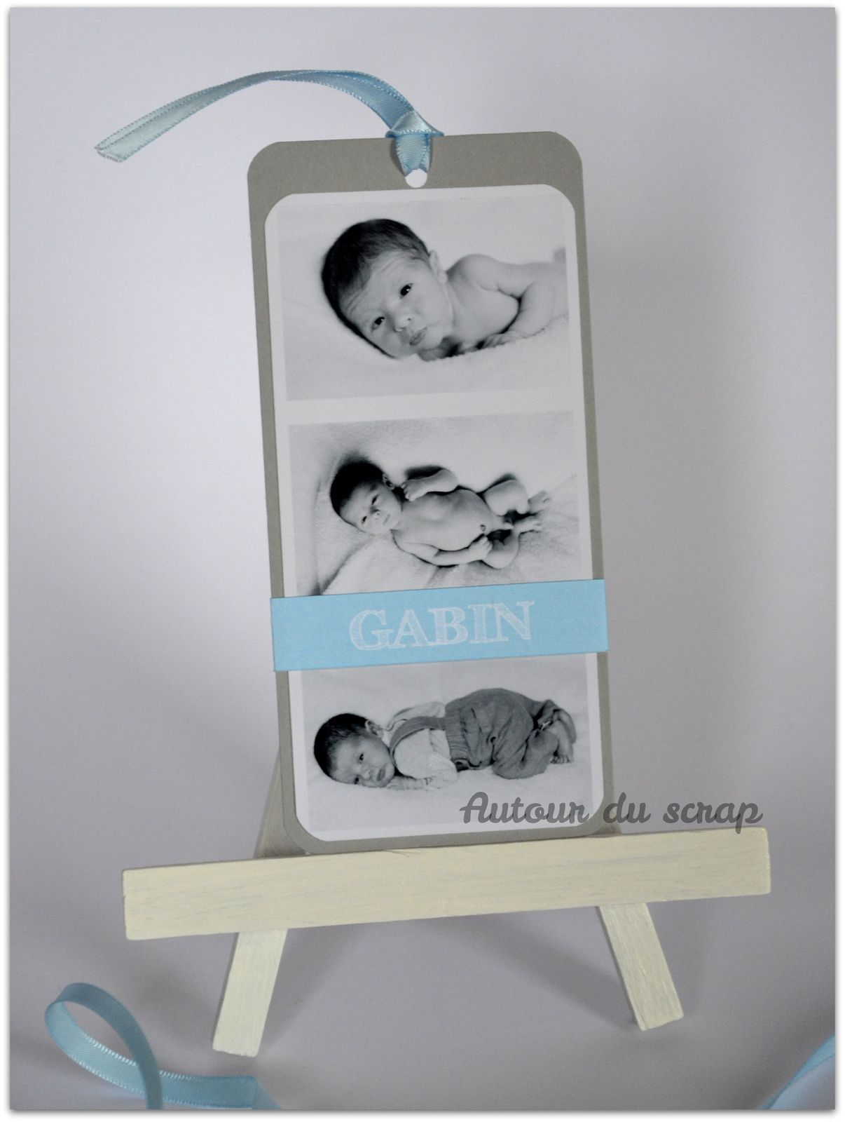 Faire-part naissance // marque-page