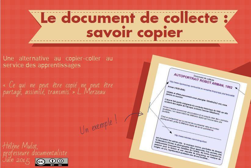 """Le document de collecte : un """"savoir copier"""" - L'odyssée d'Ln : je tisse m@ toile"""