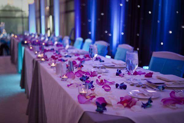 Mariage en bleu et violet  Couleur mariage