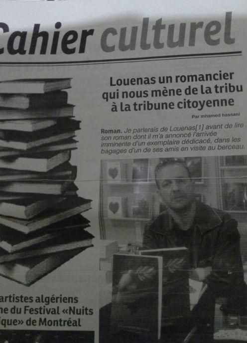Louenas, un romancier qui nous mène de la tribu à la tribune citoyenne