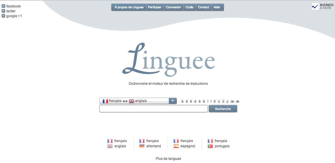 Linguee : moteur de recherche de traductions [CoolService]